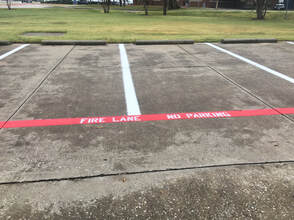 Fire Lane Striping In Parking Lot Collierville, TN