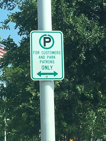 Metal Signs installed in your parking lot in Olive Branch, Mississippi
